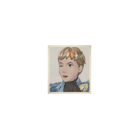 Alex's portrait in <i>Valkyria Chronicles</i>.
