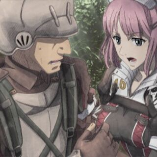 Cut-scene screenshot of Clarissa in Valkyria Chronicles 3.