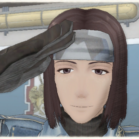 Hermes's appearance in Valkyria Chronicles.
