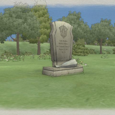 Isara's grave in <i>Valkyria Chronicles</i>.