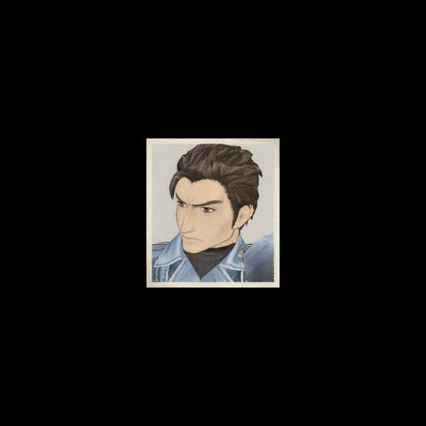 Nils' portrait in <i>Valkyria Chronicles</i>.