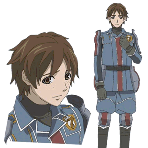 Emile's appearance in the Valkyria Chronicles anime.