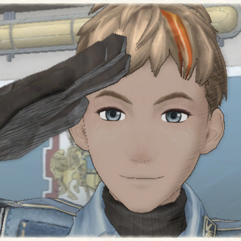 Alex's appearance in Valkyria Chronicles.