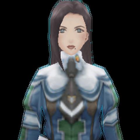 Sofia's CG appearance in <i>Valkyria Chronicles 2</i>.