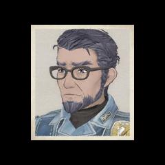 Wavy's portrait in <i>Valkyria Chronicles</i>.