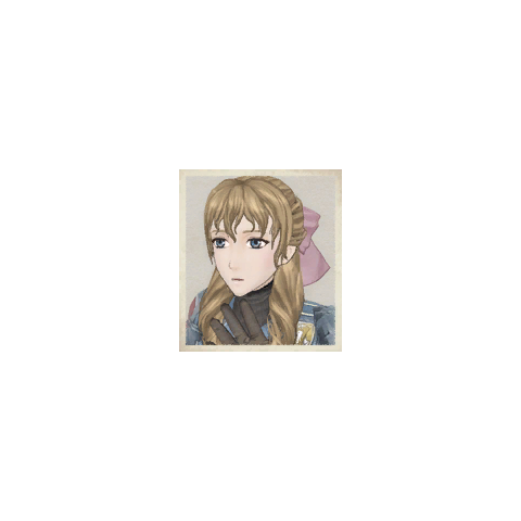 Susie's portrait in <i>Valkyria Chronicles</i>.