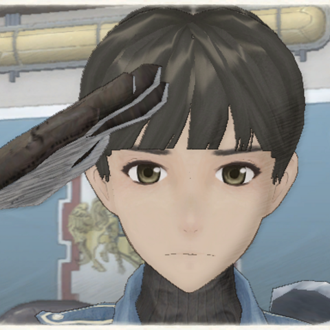 Elysse's appearance in Valkyria Chronicles.