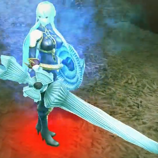 In-game screenshot of Valkyria Selvaria in <i>Chaos Heroes Online</i>.