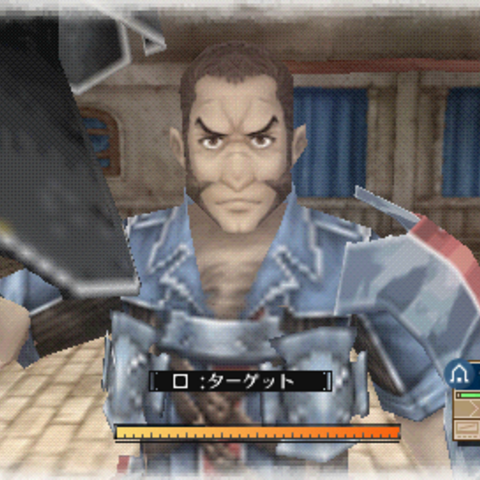 In-game screenshot of Largo in Valkyria Chronicles 3.
