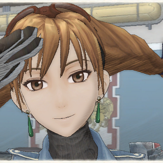 Aika's appearance in Valkyria Chronicles.
