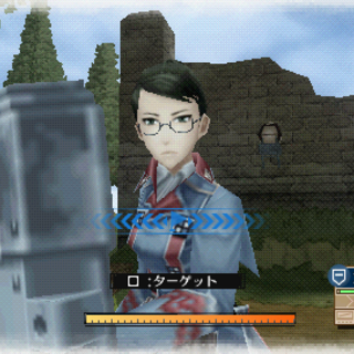In-game screenshot of Eleanor in <i>Valkyria Chronicles 3</i>.