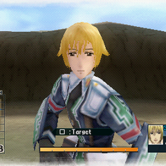 In-game screenshot of Randy in Valkyria Chronicles 2.