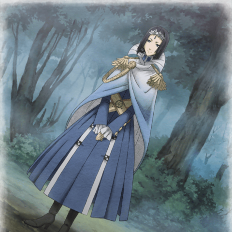 Cut-scene screenshot of Cordelia in <i>Valkyria Chronicles 2</i>.