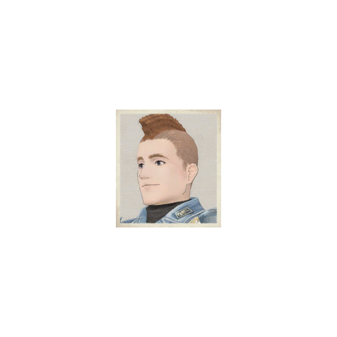 Melville's portrait in <i>Valkyria Chronicles</i>.