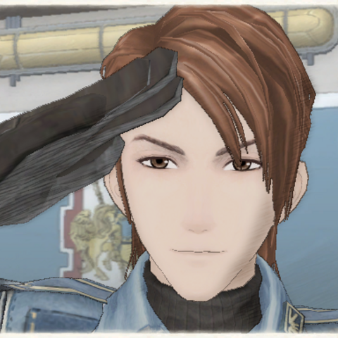 Salinas's appearance in Valkyria Chronicles.