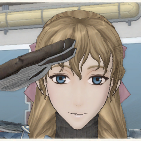 Susie's appearance in <i>Valkyria Chronicles</i>.