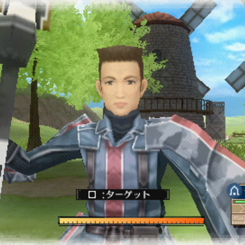 In-game screenshot of Jann in <i>Valkyria Chronicles 3</i>.