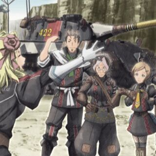 Cut-scene screenshot of Margit in <i>Valkyria Chronicles 3</i>.