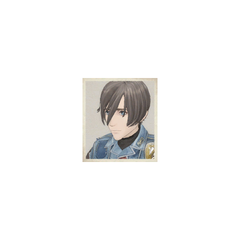 Cezary's portrait in <i>Valkyria Chronicles</i>.