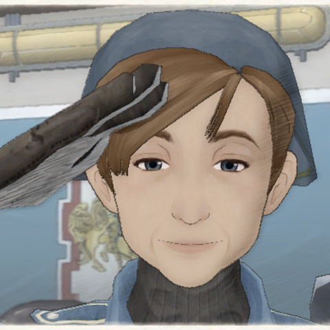 Yoko's appearance in Valkyria Chronicles.