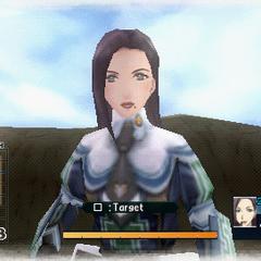 In-game screenshot of Sofia in <i>Valkyria Chronicles 2</i>.