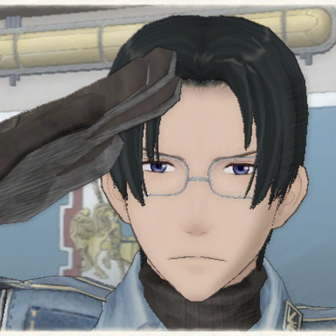 Mica's appearance in Valkyria Chronicles.