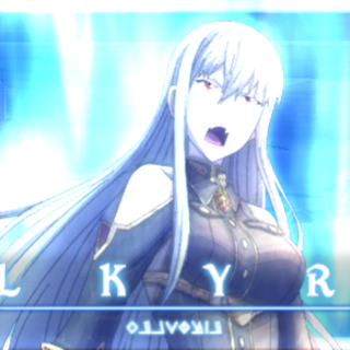 Selvaria's <i>Valkyria</i> in Valkyria Chronicles Duel.