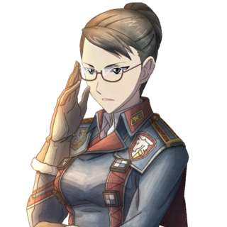 Eleanor's appearance in <i>Valkyria Chronicles 3</i>.