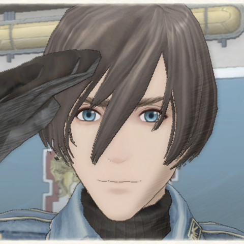 Cezary's appearance in Valkyria Chronicles.