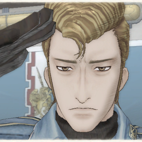 Theold's appearance in Valkyria Chronicles.