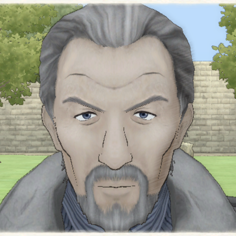 Aged Gentleman's appearance in <i>Valkyria Chronicles</i>.