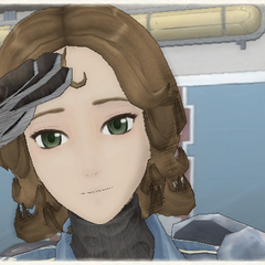 Audrey's appearance in Valkyria Chronicles.