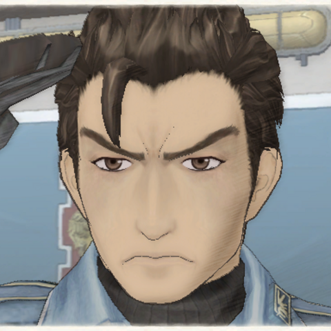 Nils' appearance in Valkyria Chronicles.