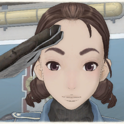 Ramsey's appearance in Valkyria Chronicles.