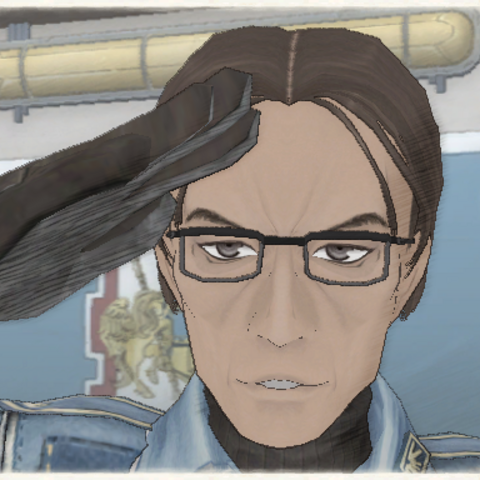 Knute's appearance in Valkyria Chronicles.