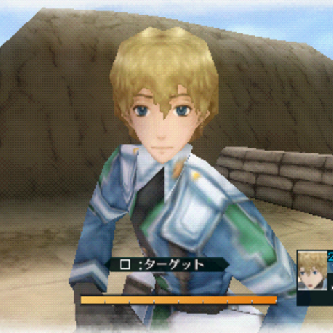 In-game screenshot of Homer in <i>Valkyria Chronicles 2</i>.
