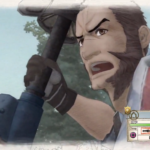 Largo's appearance in Valkyria Chronicles.