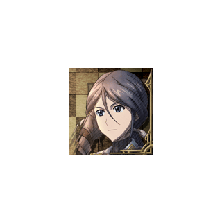 Lynn's portrait in <i>Valkyria Chronicles 3</i>.