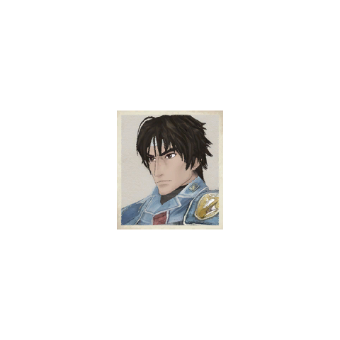 Hector's portrait in <i>Valkyria Chronicles</i>.