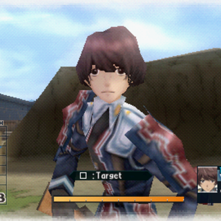 In-game screenshot of Nichol in Valkyria Chronicles 2.