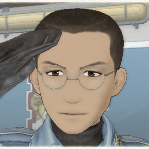 Karl's appearance in Valkyria Chronicles.