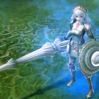 In-game screenshot of Valkyria Alicia.