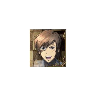 Vyse's portrait in <i>Valkyria Chronicles 3</i>.