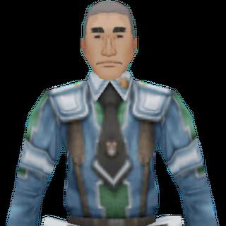 Raymond's CG appearance in Valkyria Chronicles 2.