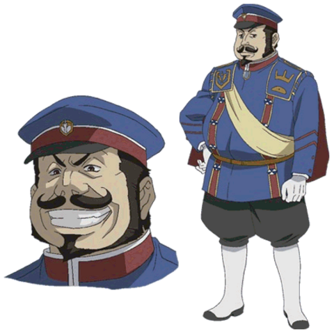 Damon's appearance in the Valkyria Chronicles anime.