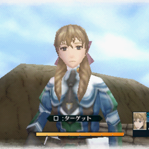 In-game screenshot of Susie in <i>Valkyria Chronicles 2</i>.