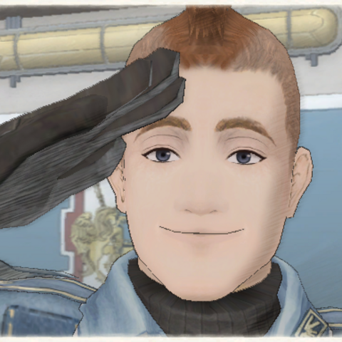 Melville's appearance in Valkyria Chronicles.
