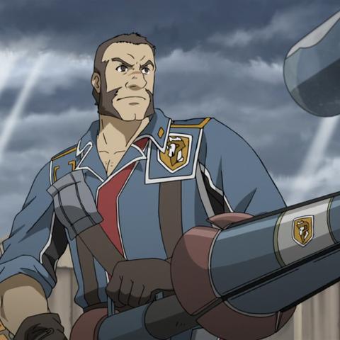 Largo's appearance in the Valkyria Chronicles 3 OVA.