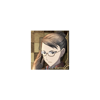 Eleanor's portrait in <i>Valkyria Chronicles 3</i>.