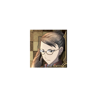 Eleanor's portrait in <i>Valkyria Chronicles 3</i>.